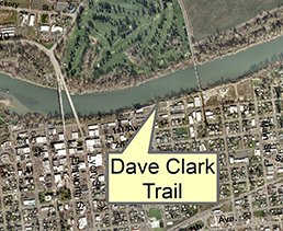 Aerial map of Dave Clark Trail